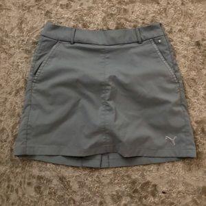 Puma golf skirt skort. Size small. Grey.